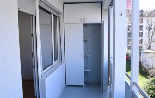 WG-Wettstein 3-Zimmerwohnung Balkon mit Einbauschrank